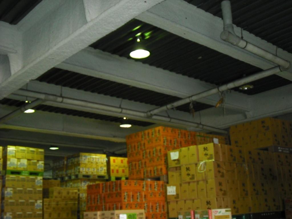 倉庫照明取替前 水銀灯